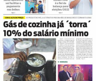 Gás de cozinha já  ́torra ́ 10% do salário mínimo