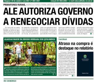 ALE AUTORIZA GOVERNO A RENEGOCIAR DÍVIDAS