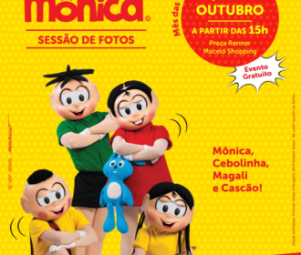 Maceió Shopping promove encontro com personagens da Turma da Mônica